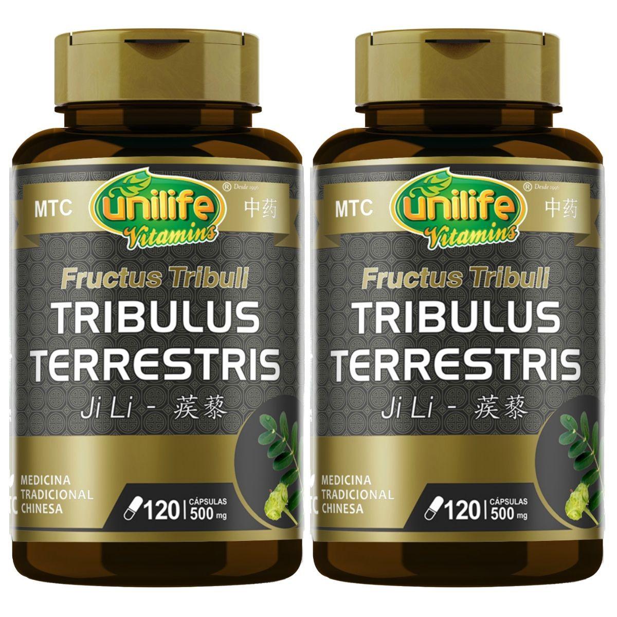 Kit 2 Tribulus Terrestris MTC 500mg 120 Cápsulas - Unilife