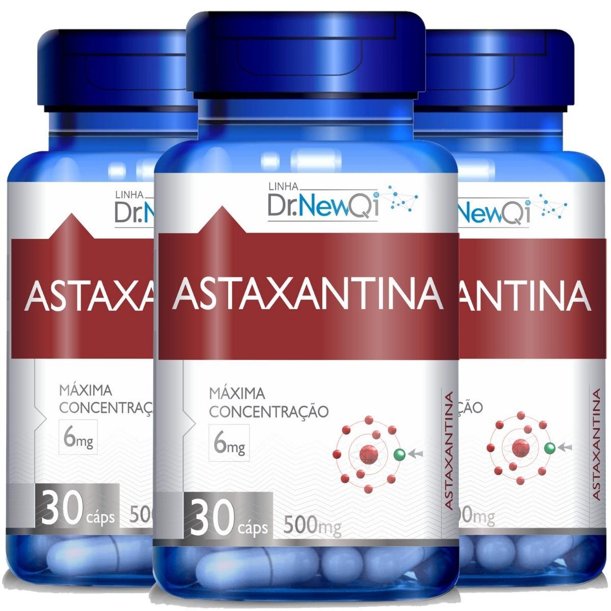 Kit 3 Astaxantina 30 Cápsulas 500mg Dr. New Qi - Upnutri