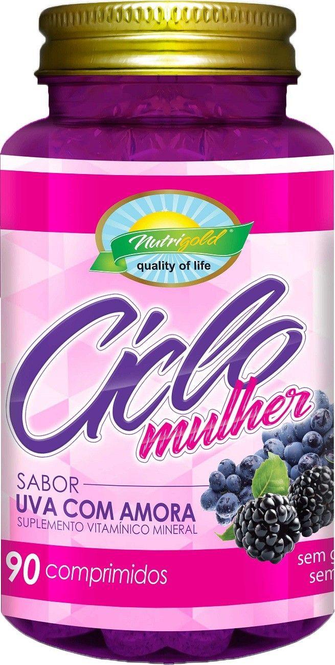Kit 3 Ciclo Mulher Amora  + Uva 90 Comprimidos