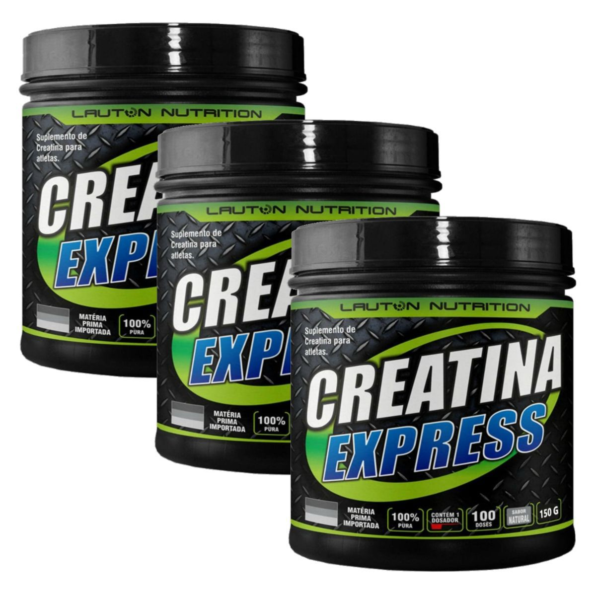 Kit 3 Creatinas Express 100% Pura 100g - Lauton Nutrition