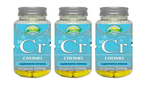 Kit 3 Cromo 60 Cápsulas 550 Mg