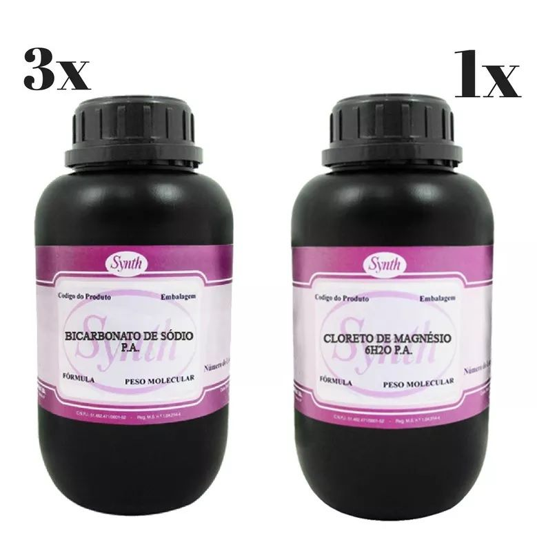 Kit 3 Kg Bicarbonato De Sodio Pa + 1 Kg Cloreto De Magnesio Pa  - Synth