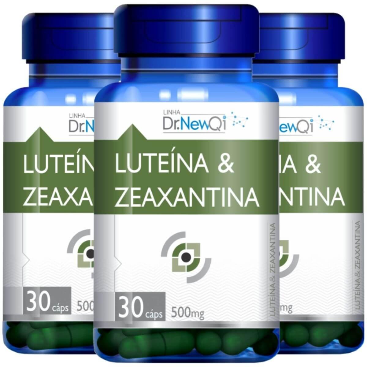 Kit 3 Luteína E Zeaxantina 30 Cápsulas 500mg - Dr. NewQi