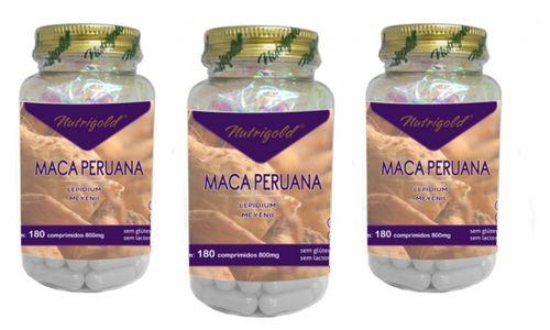 Kit 3 Maca Peruana 180 Comprimidos 800mg