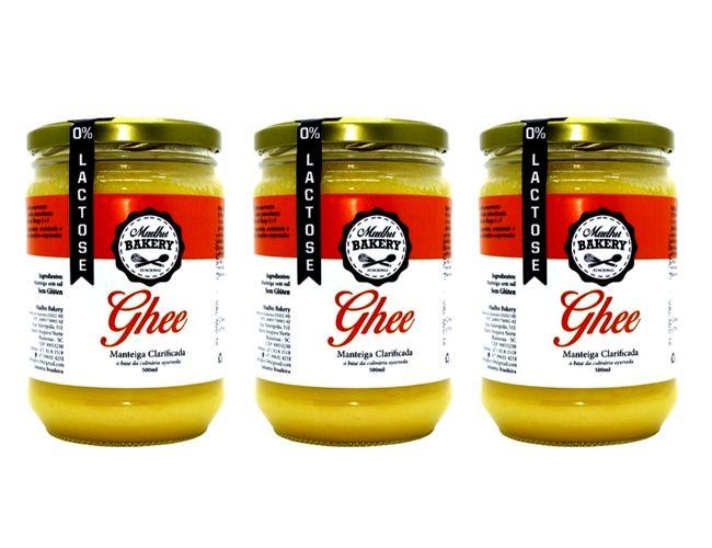 Kit 3 Manteiga Ghee 300g Tradicional Clarificada Zero Lactose