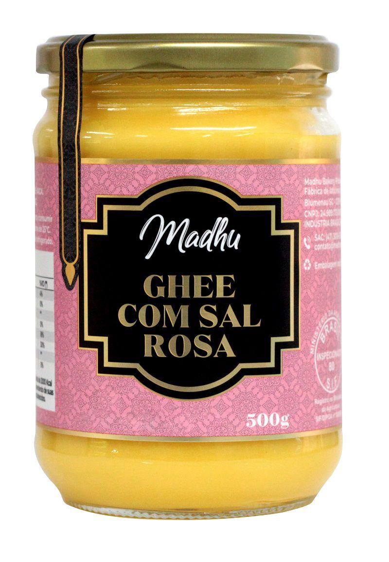 Kit 3 Manteiga Ghee 500g  Com SAL ROSA HIMALAIA Clarificada - Zero Lactose