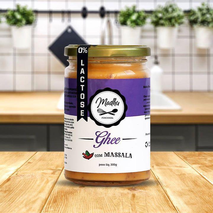 Kit 3 Manteigas Ghee 300g Madhu Sabor Tomate Seco/Massala/Ervas Finas