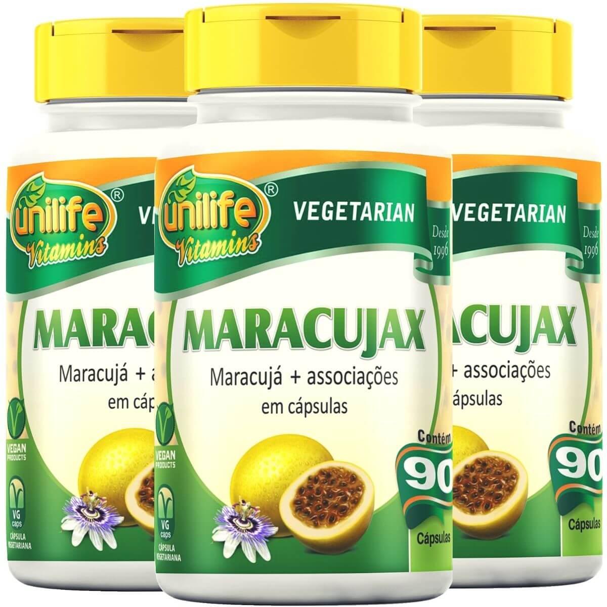 Kit 3 Maracujax Unilife - 90 Cápsulas 500mg