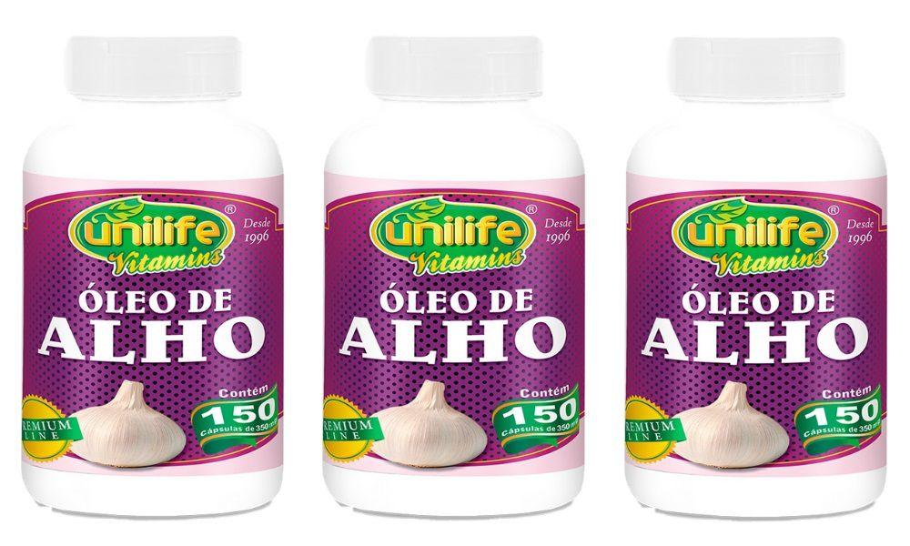 Kit 3 Óleo de Alho 150 Cápsulas 350mg - Unilife