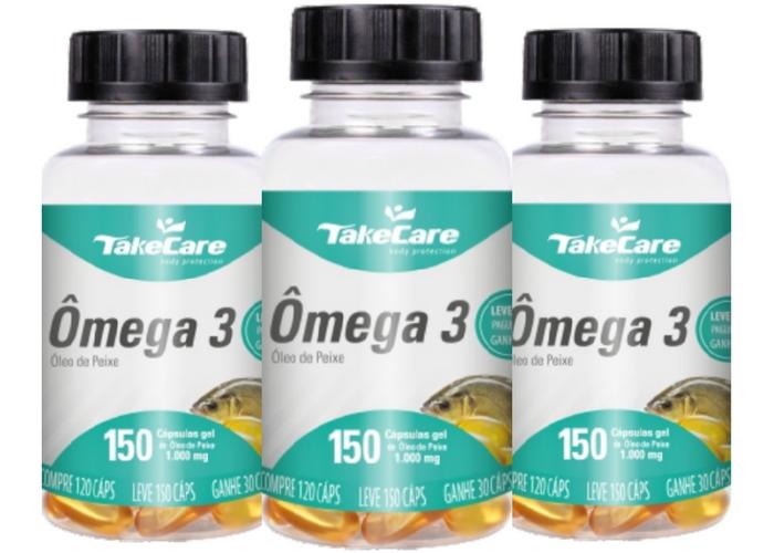 Kit 3x Omega 3 Oleo De Peixe 1000 Mg 450 Capsulas