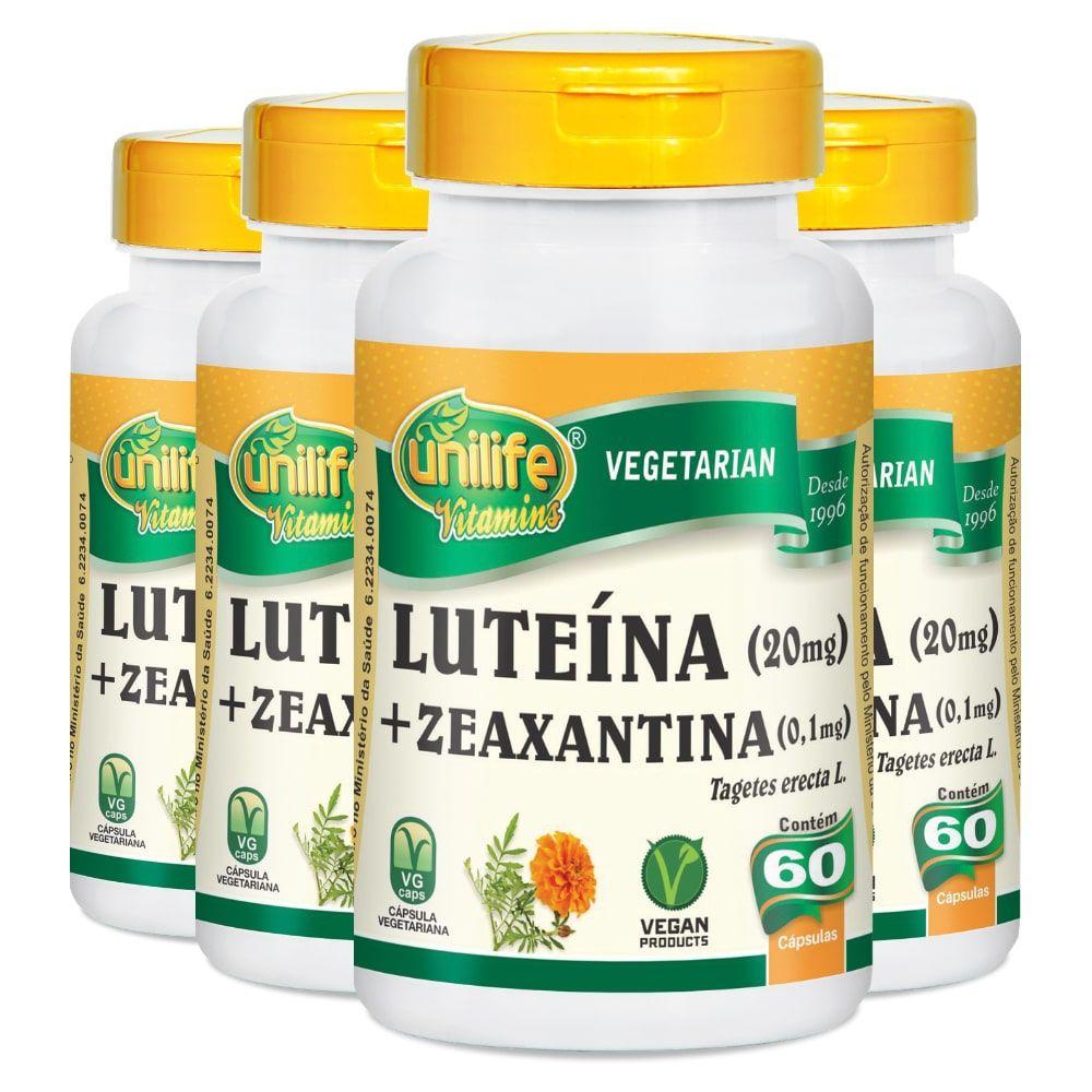 Kit 4 Luteína e Zeaxantina - Unilife 60 Cáps