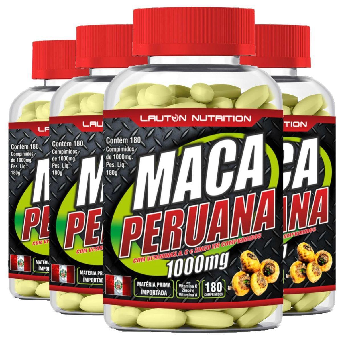 Kit 4 Maca Peruana 180 Tabs 1000mg - Lauton Nutrition
