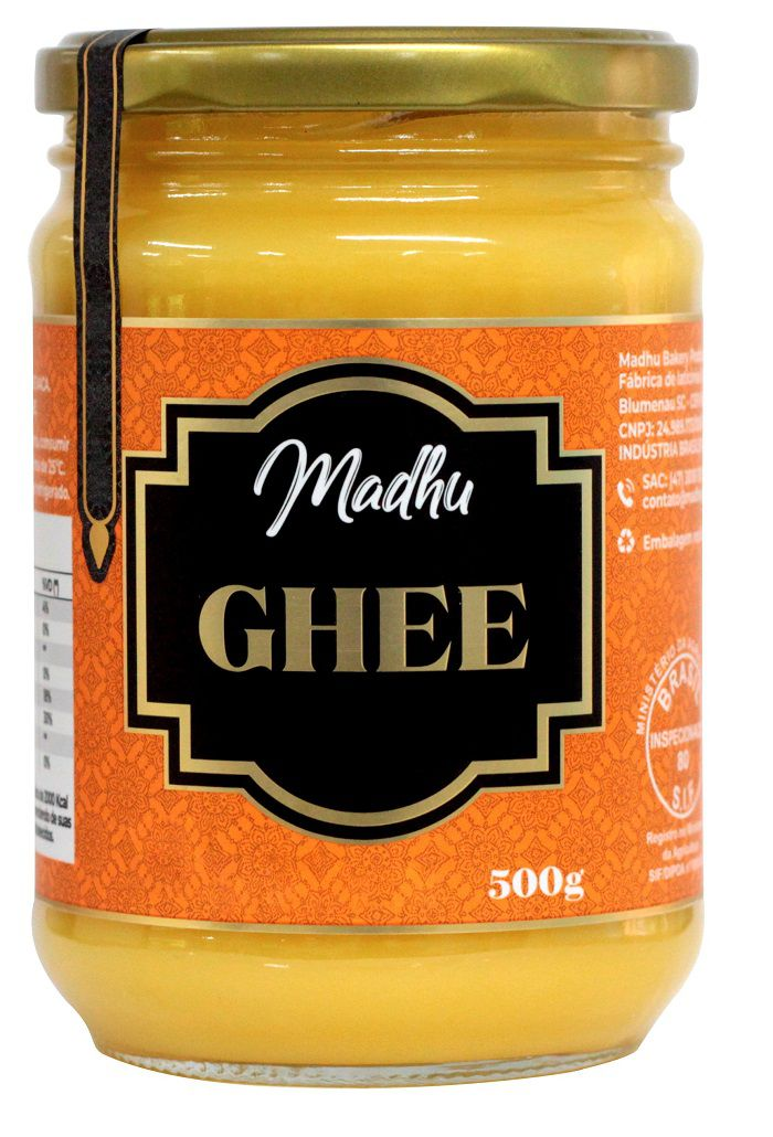 Kit 4 Manteigas Ghee Madhu Bakery 500g Tradicional Clarificada 0% Lactose/Glúten