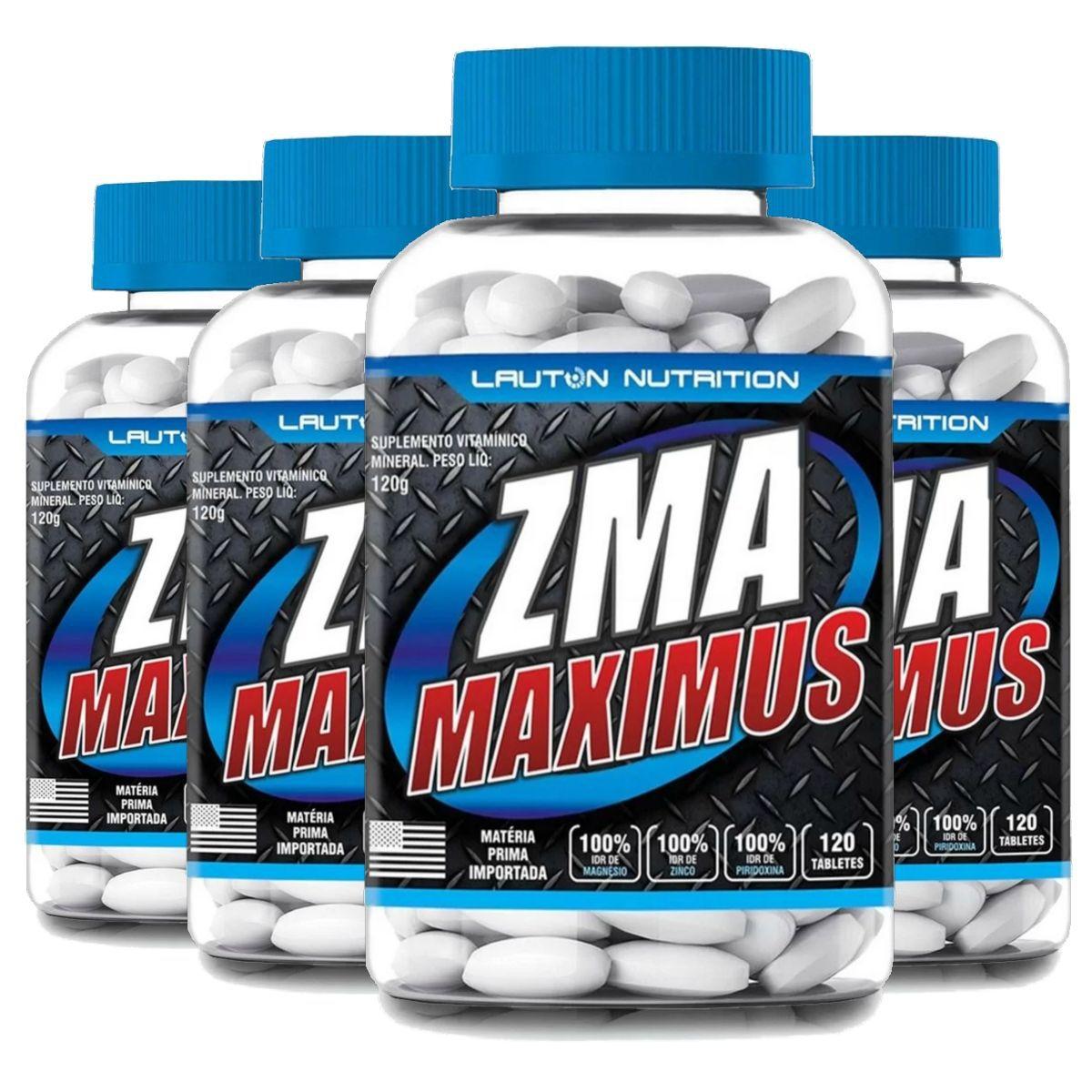 Kit 4 ZMA Maximus Lauton Nutrition - 120 Tablets 1G