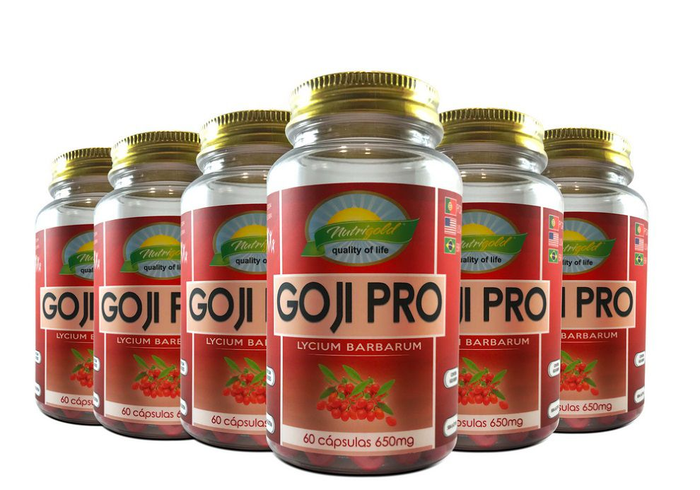 Kit 6 Goji Berry Pote 60 Cápsulas 650mg