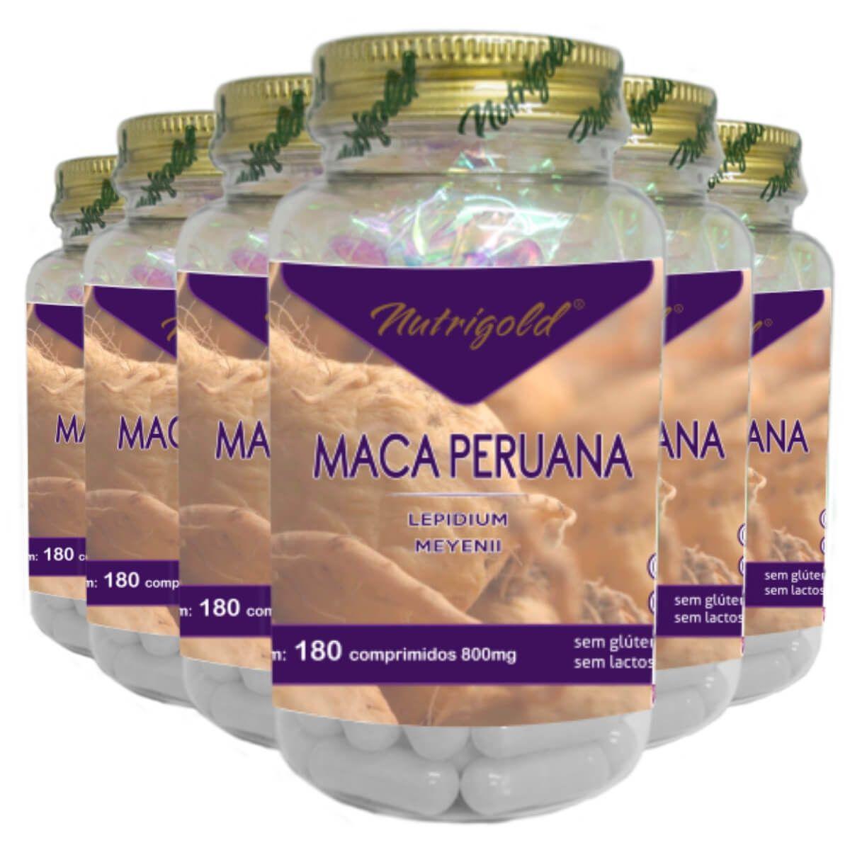 Kit 6 Maca Peruana 180 Comprimidos 800mg