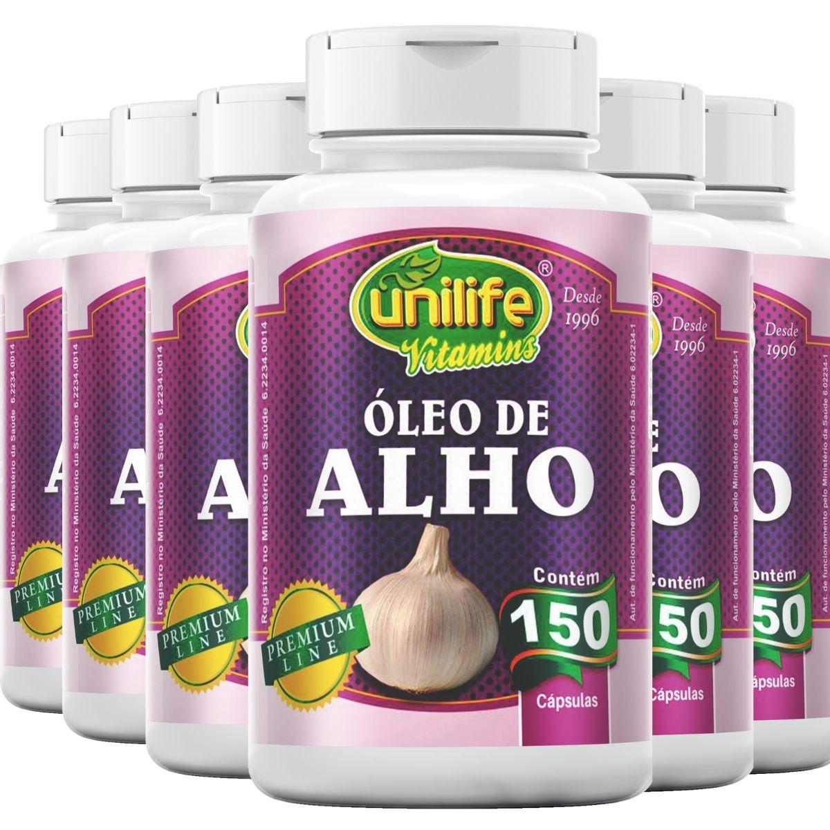 Kit 6 Óleo de Alho 150 Cápsulas 350mg - Unilife