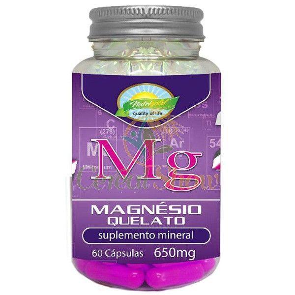 Kit 6 x Magnesio Bisglicinato 100% Quelato 60 Capsulas - 100% Biodisponivel