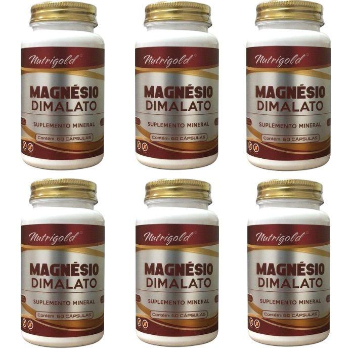 Kit 6 x Magnésio Dimalato - 360 Cápsulas