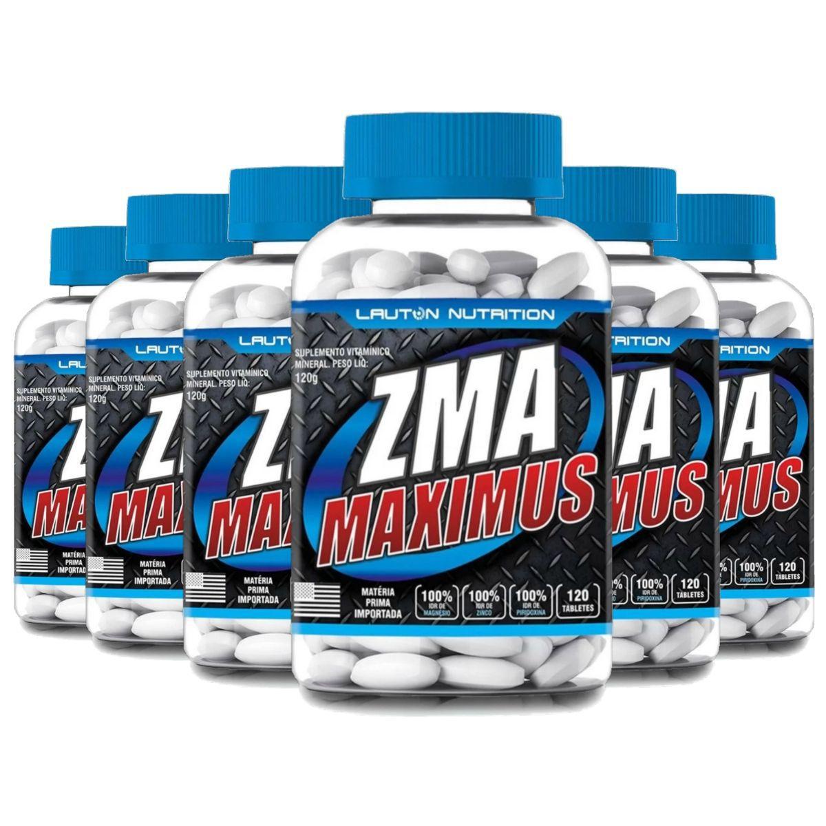 Kit 6 ZMA Maximus Lauton Nutrition - 120 Tablets 1G