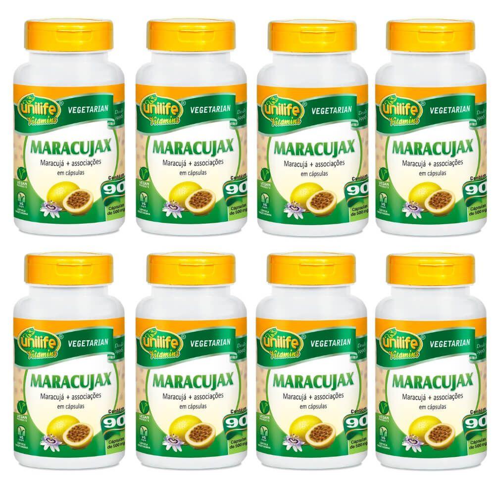 Kit 8 Maracujax Unilife - 90 Cápsulas 500mg