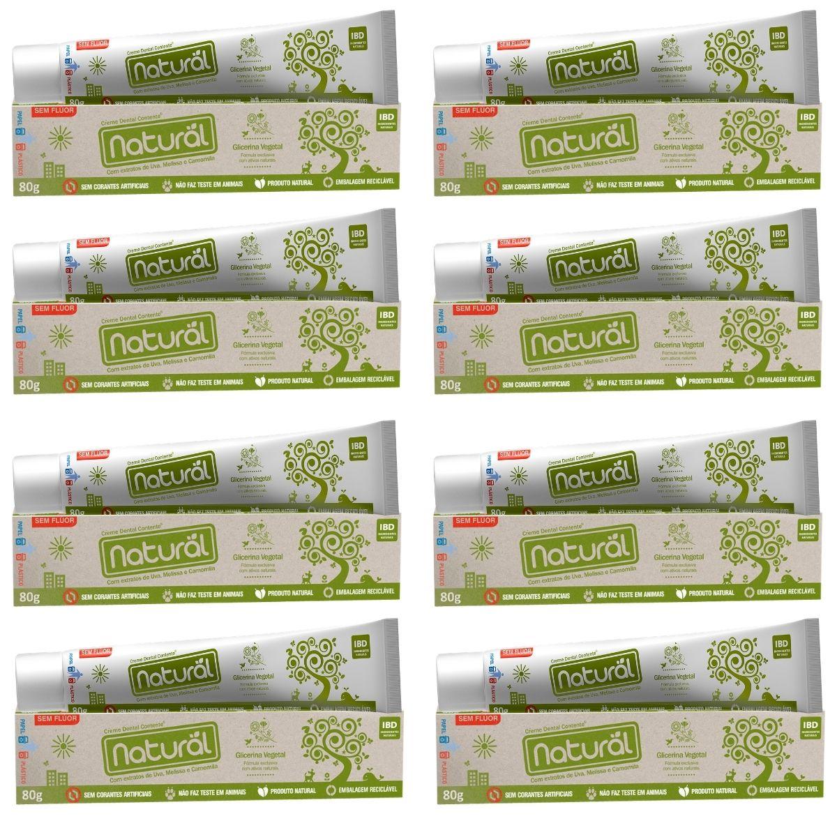 Kit 8x Creme Dental Orgânico Natural Vegano Sem Fluor 80g  Suavetex