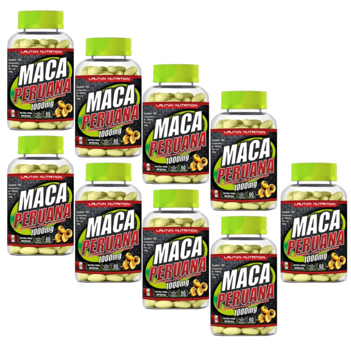 Kit 9 Maca Peruana 60 Tabs 1000mg Lauton Nutrition