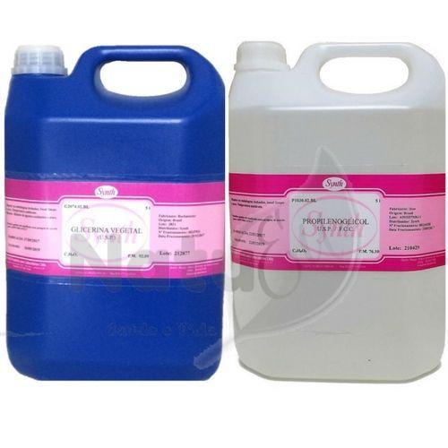 Kit Glicerina Vegetal USP 5L + Propilenoglicol USP 5L - Synth Origininal Com Nota Fiscal