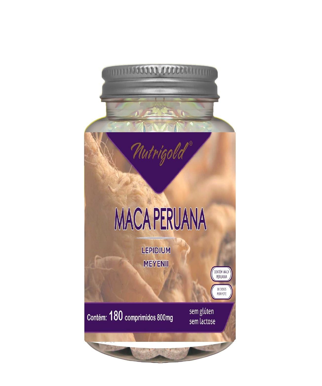 Maca Peruana 180 Comprimidos Nutri Gold