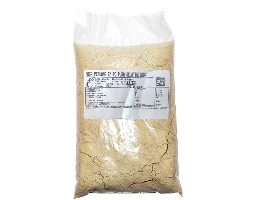 Maca Peruana em Pó 1 Kg - 100% Pura Gelatinizada - Importada