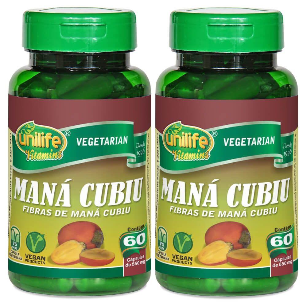 Kit 2 Maná Cubiu Unilife - 60 Cápsulas 550mg