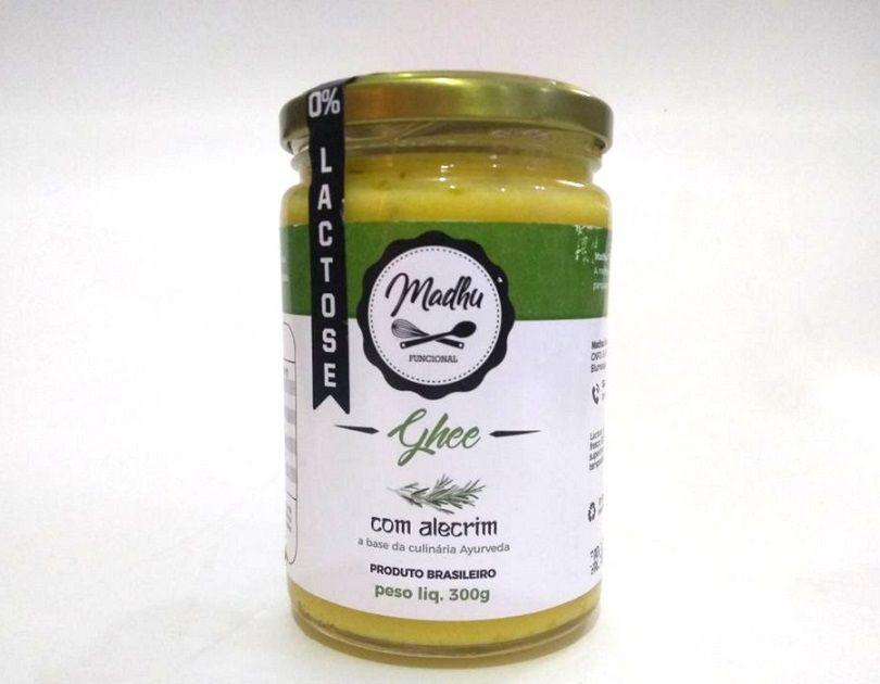 Manteiga Ghee 300g Sabor Alecrim Clarificada Zero Lactose Zero Gluten