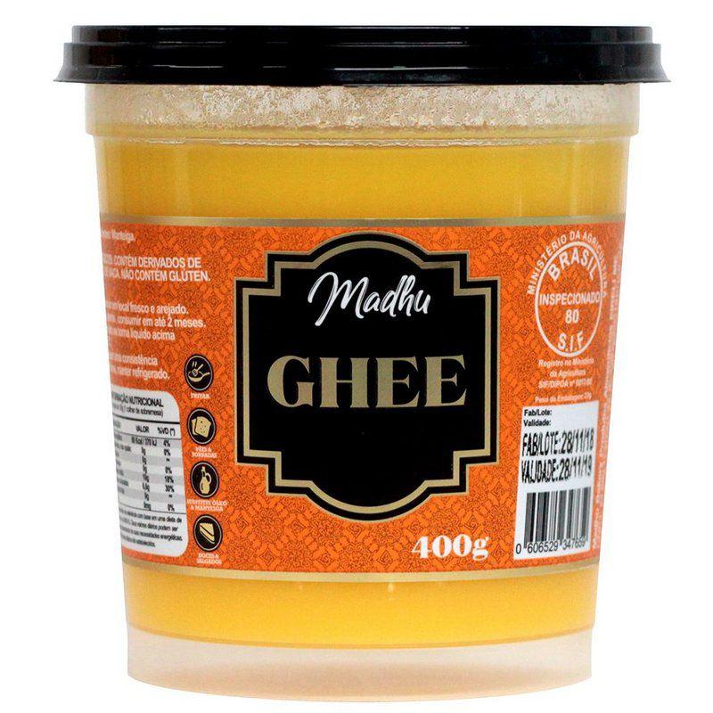 Manteiga Ghee 400g  Tradicional Clarificada Madhu Bakery