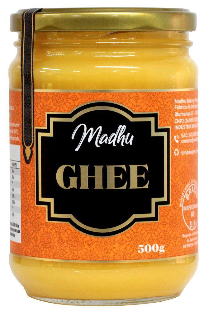 Manteiga Ghee 500g  Tradicional Clarificada Madhu Bakery