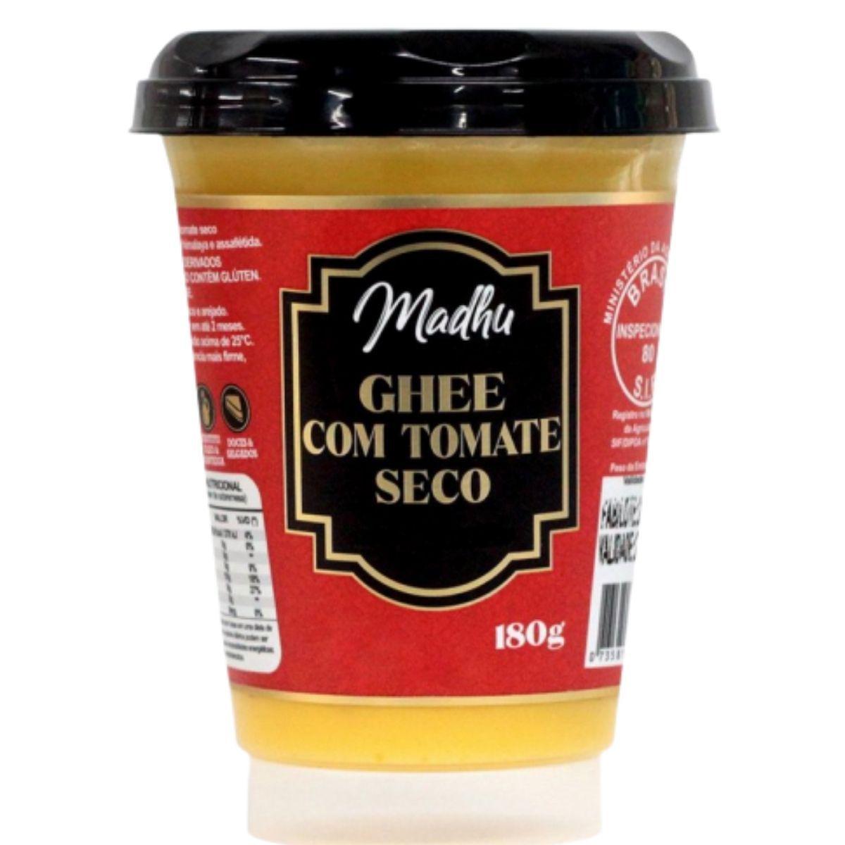 Manteiga Ghee C/ Tomate Seco Clarificada 180g - Madhu Bakery