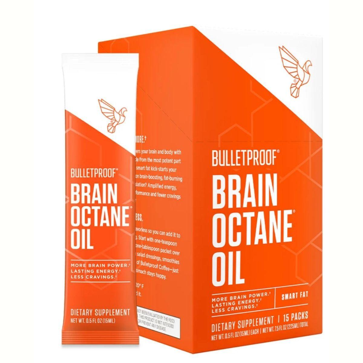 Brain Octane Oil BulletProof MCT 15 Sachês - Óleo de Coco Concentrado