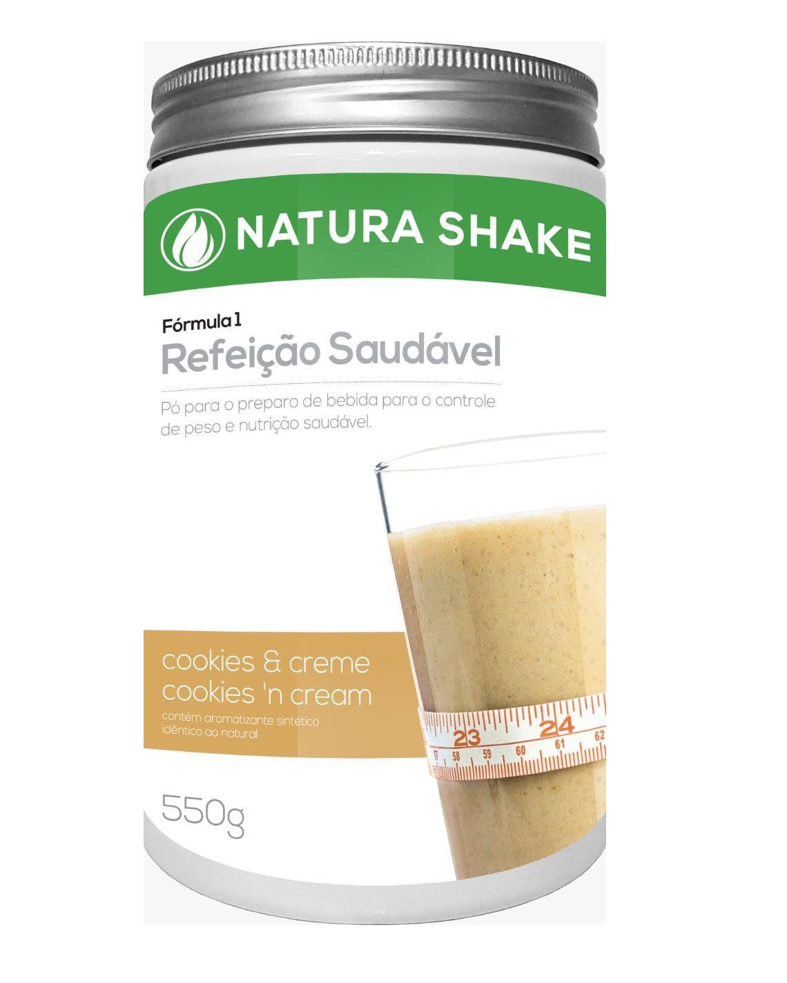 Natura Shake Sabor Cookies e Cream 550g - Ideal Para Dieta
