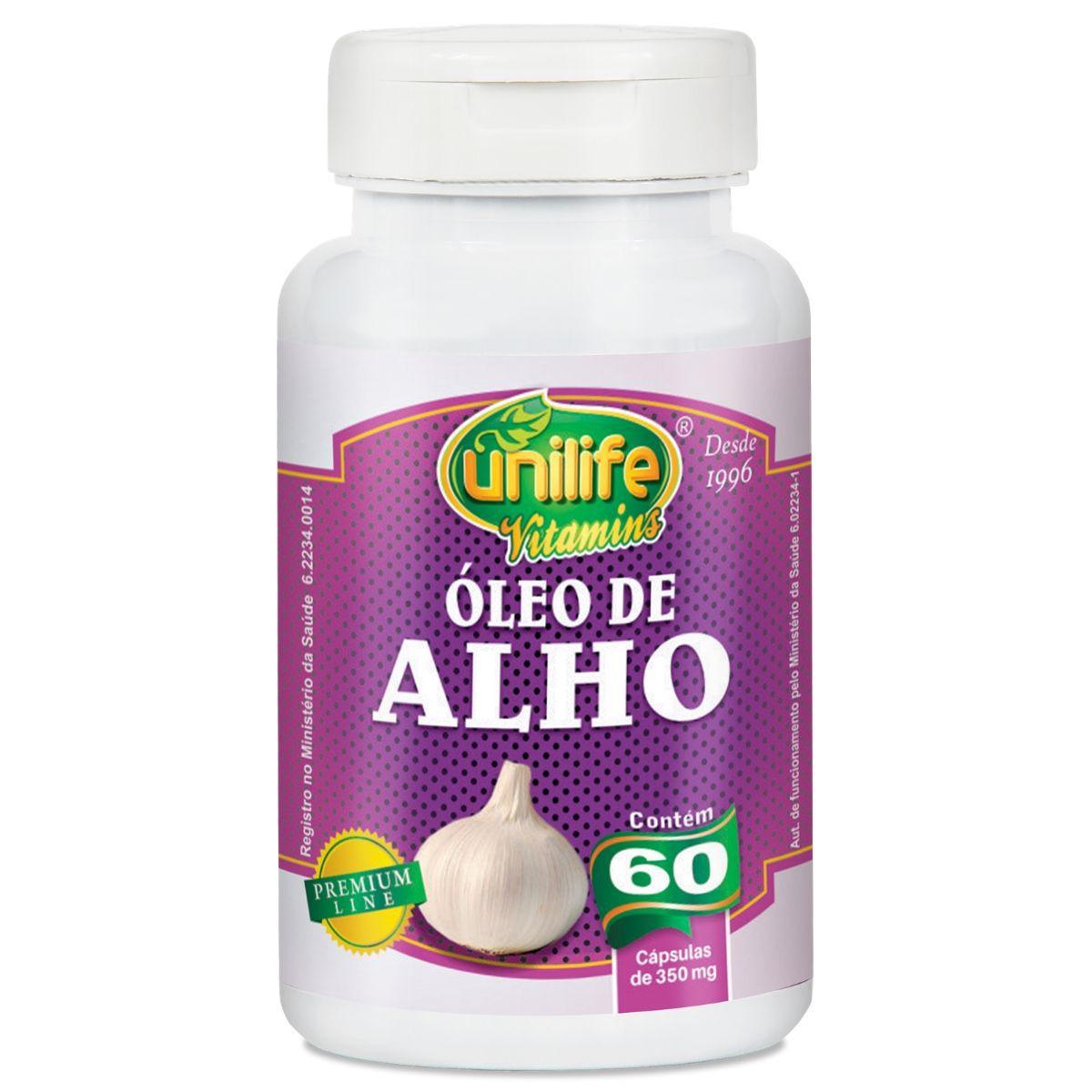 Óleo de Alho 60 350mg Cápsulas - Unilife