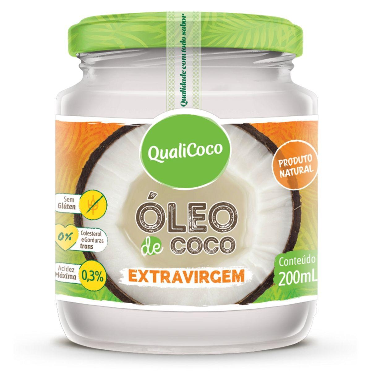 Óleo De Coco Extra Virgem  Prensado A Frio 100% Natural 200ml - QualiCoco