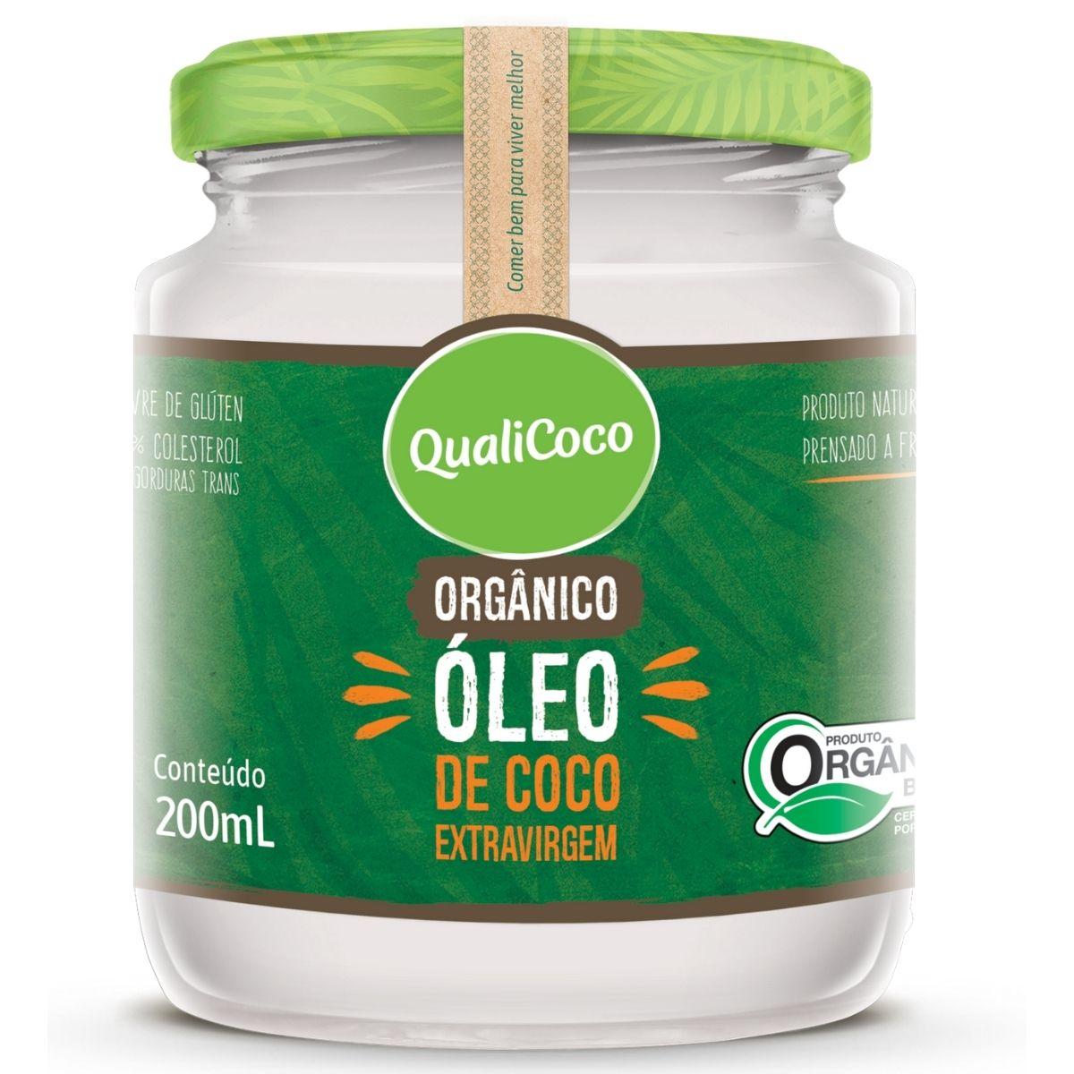 Óleo de Coco Orgânico Extra Virgem 200ml - QualiCoco