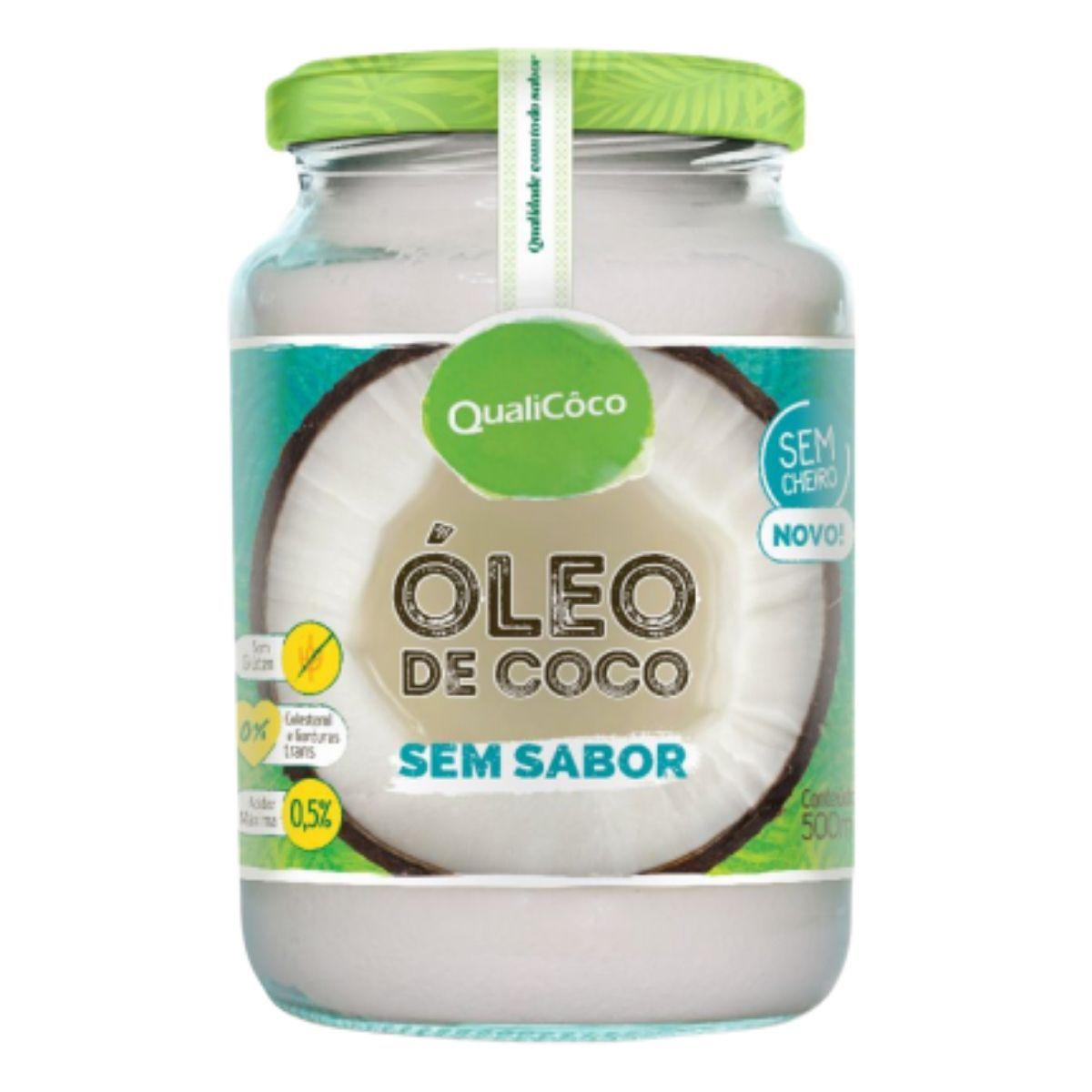 Óleo De Coco Sem Sabor E Sem Cheiro Prensado A Frio 500ml - QualiCoco
