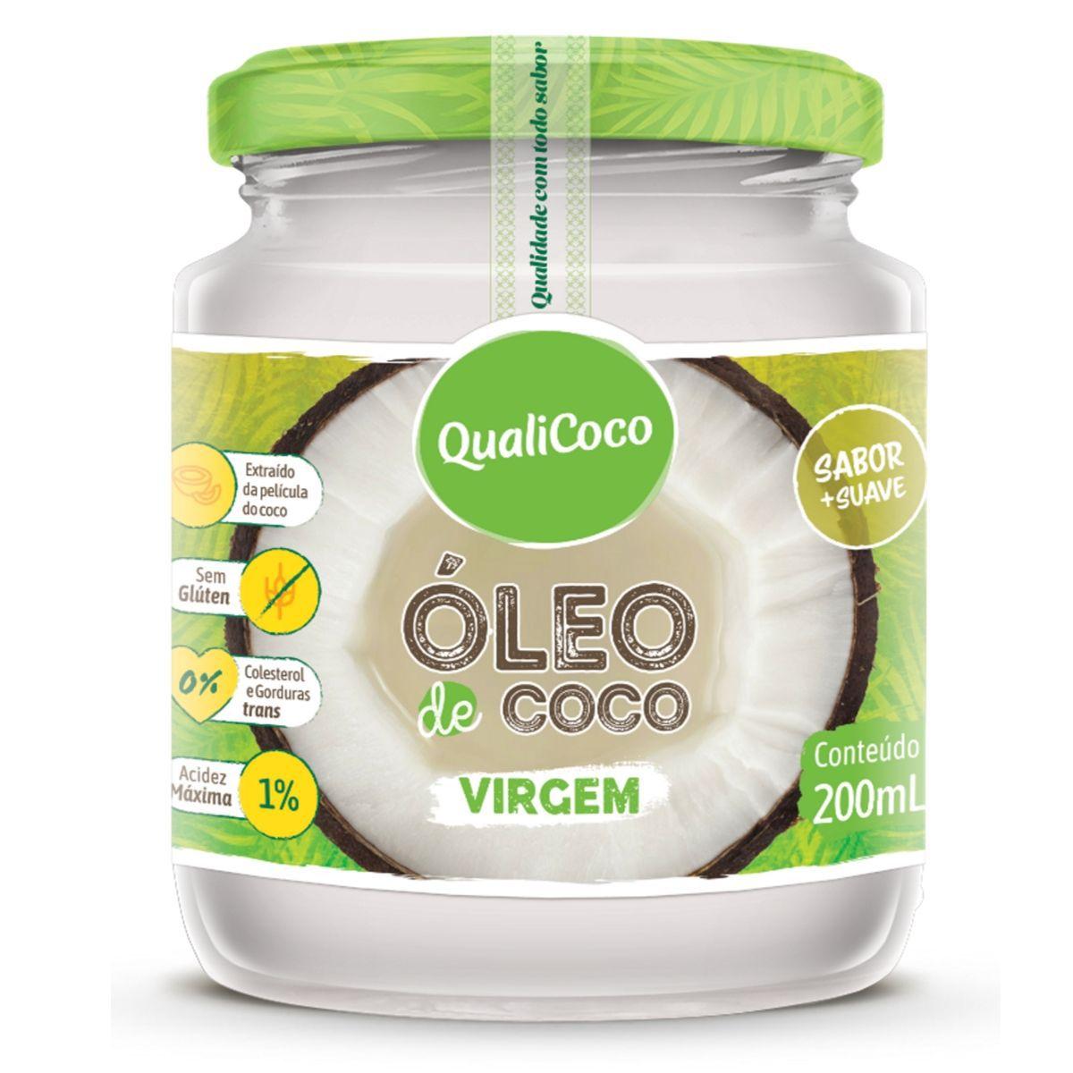 Óleo De Coco Virgem Prensado A Frio Sem Glúten 200ml - QualiCoco