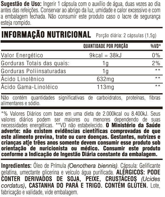 Óleo de Prímula - 60 Cápsulas Softgel 500mg