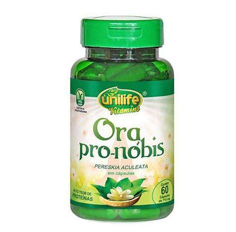 Ora Pro-Nóbis Pereskia Aculeta - 60 Cápsulas 450 mg - Unilife