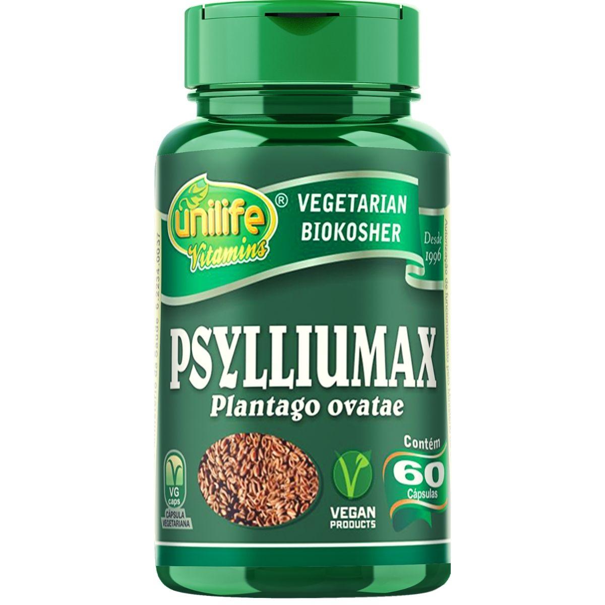 Psylliumax - Psyllium 550mg 60 Cápsulas - Unilife