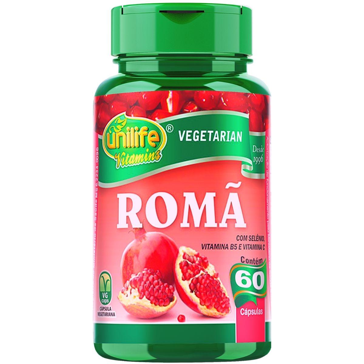 Romã C/ Vitaminas - Unilife 60 Cápsulas - Unilife