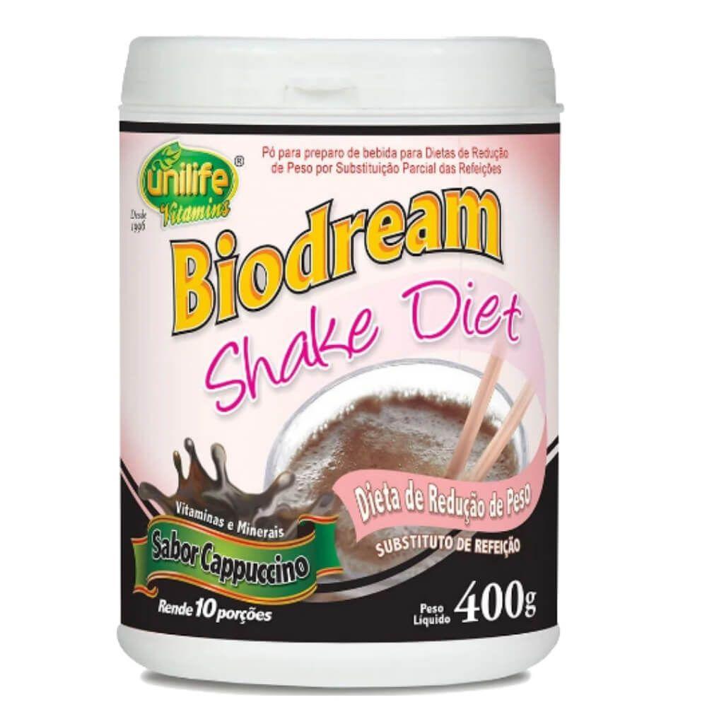 Shake Diet Biodream Sabor Cappuccino 400g - Unilife