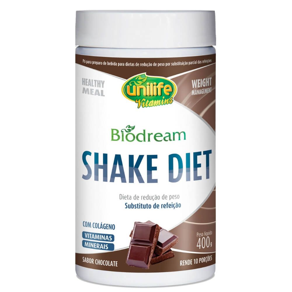 Shake Diet Biodream Sabor Chocolate 400g - Unilife