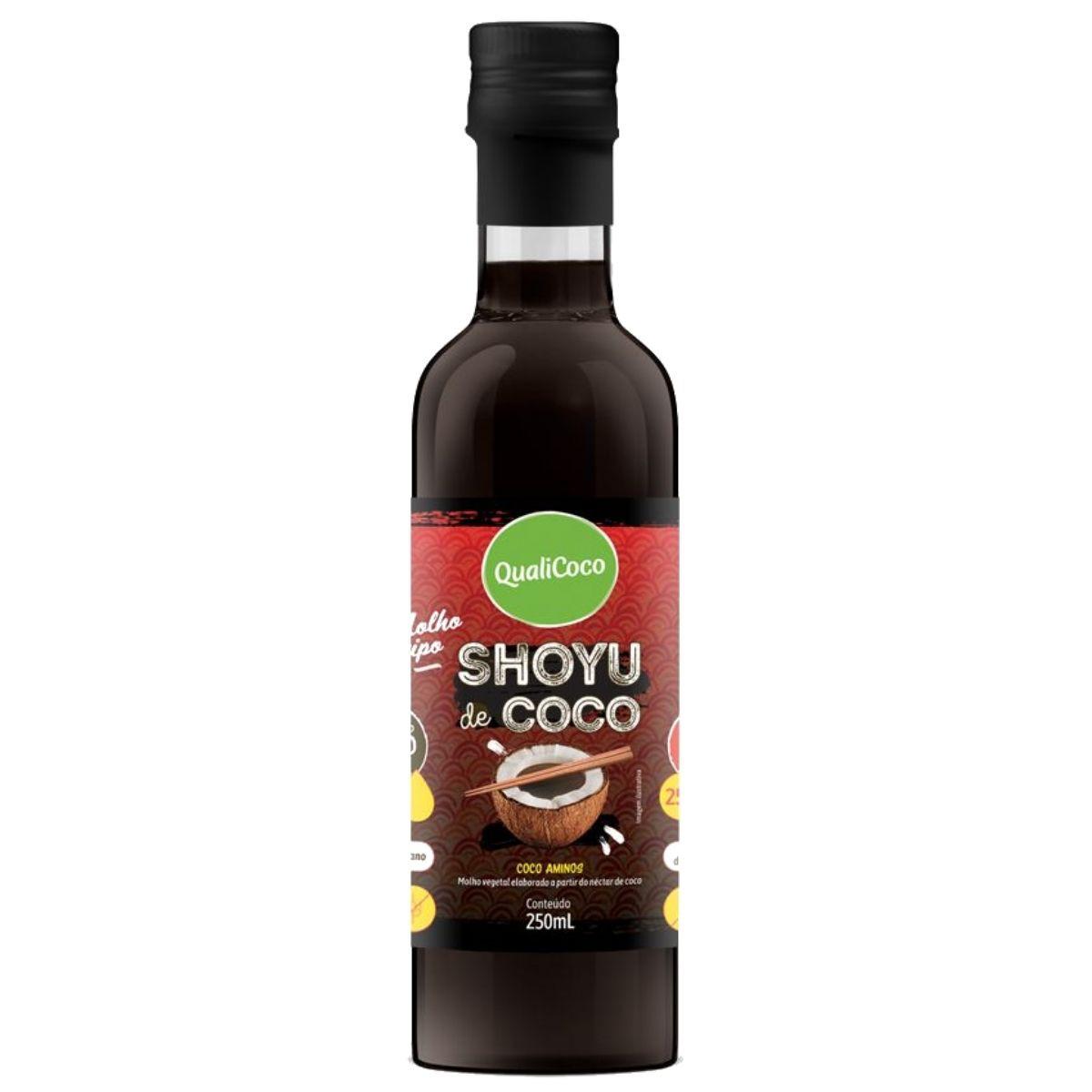 Shoyu de Coco Aminos 100% Natural 250ml - QualiCoco