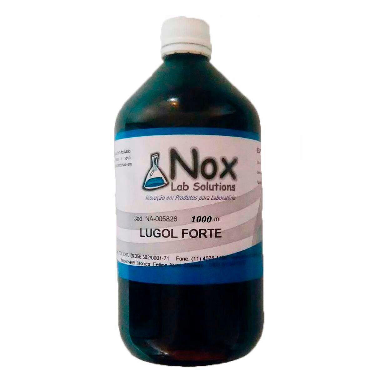 Solução Lugol 5% 1000 Ml C/ Iodeto - Iodo Inorgânico
